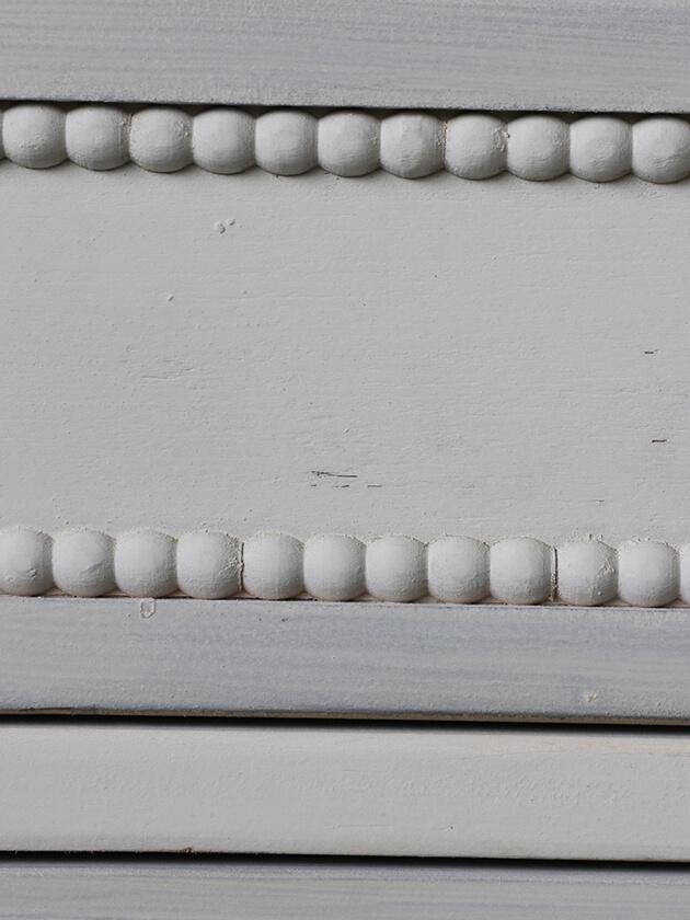 BlancNatureサイドボード アンティークホワイト&グレージュ