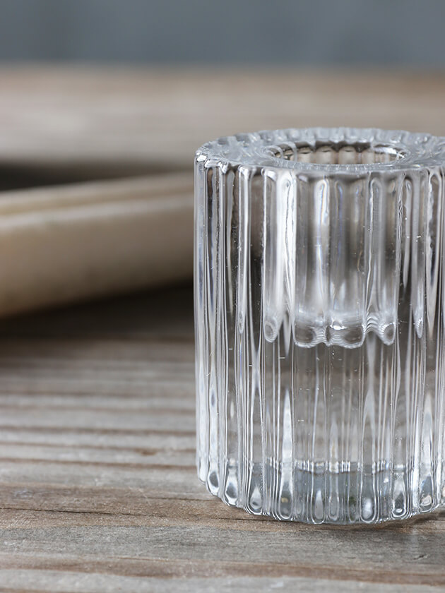 RasteliガラスキャンドルホルダーRuffles M