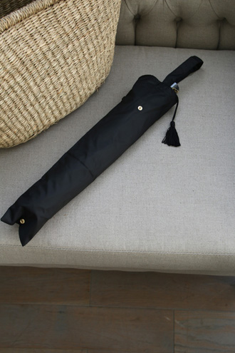 Kiwanda折りたたみ傘タフタパール付 ブラック
