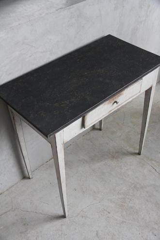 Gustavian AntiqueコンソールテーブルTOPブラック1800年代