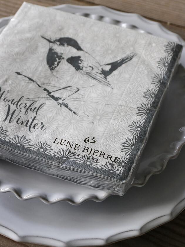 Lene BjerreペーパーナプキンBird33x33cm