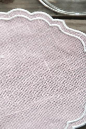 LA GALLINA MATTAコースターPAPER ピンク x ホワイト