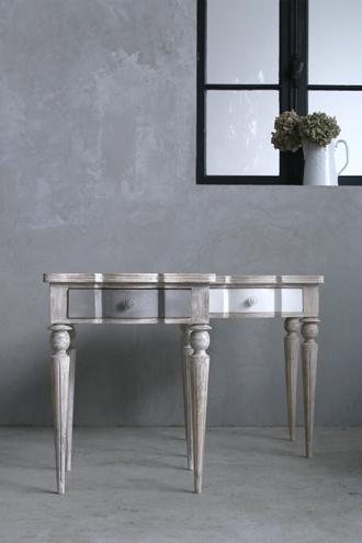 BLANC D'IVOIREサイドテーブルLINDAグレー