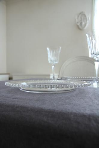 PERLEガラスディナープレート26.5cm
