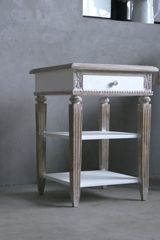BLANC D'IVOIREサイドテーブルVENISE MM ホワイト