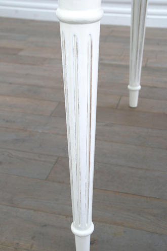 Sarahダイニングテーブルドロワー付き180cmホワイト
