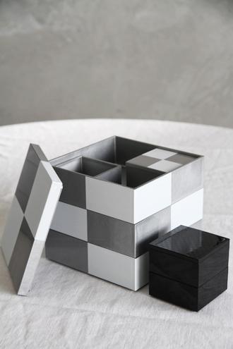 重箱5寸二段中子重 チェス ブラック
