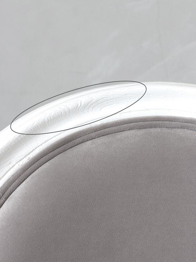 SGDダイニングチェアMedalion-TXホワイト&ライトグレーベルベット