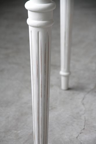 Sarahダイニングテーブルドロワー付き150cmホワイト