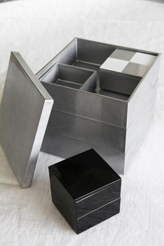 重箱5寸三段重 シルバー