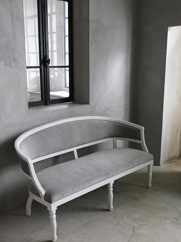 BlancNatureソファ グレーベルベット