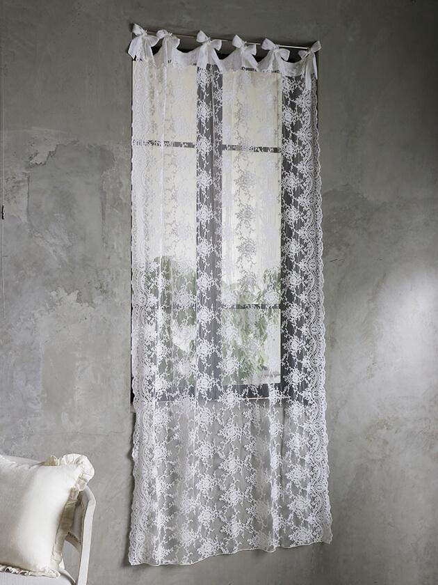 Chez moiカーテンCorinzioホワイト120x220cm