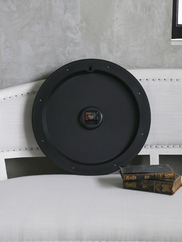 NEW GATEウォールクロックCHOCOLATE SHOPオールブラック50cm