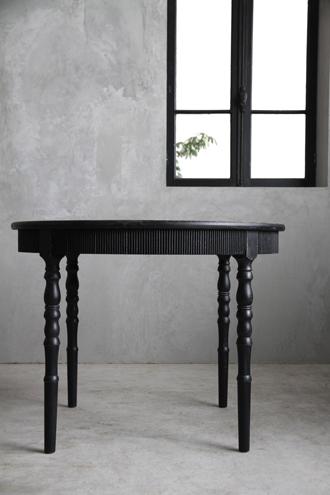 BlancNatureラウンドダイニングテーブル ブラック