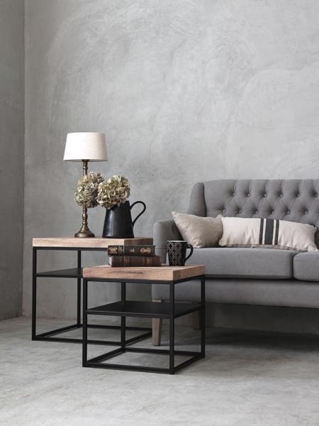 《40%OFF》sofa domeアイアンサイドテーブルトップオールウッドスクエア