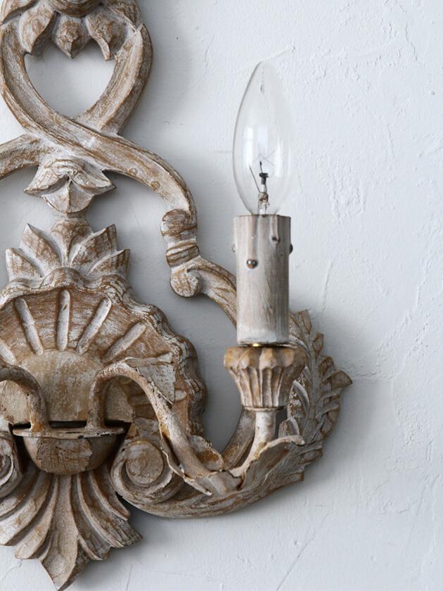 BLANC D'IVOIREウォールランプELISABETH2灯 ホワイトウォッシュ