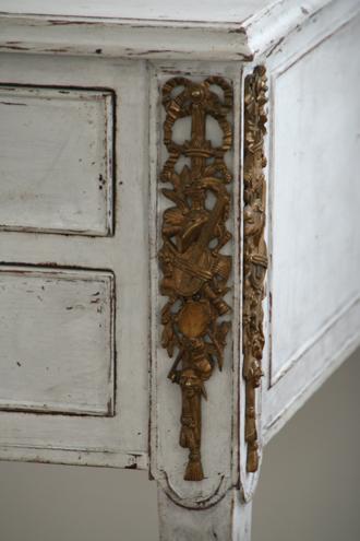Gustavian Antiqueライティングデスクオリジナルブロンズ 1900年代初頭