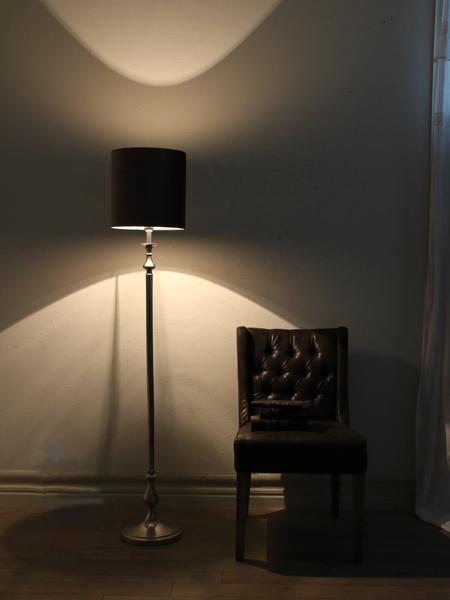 Light&Living フロアスタンドランプCEBUシルバー(シェード別売り)