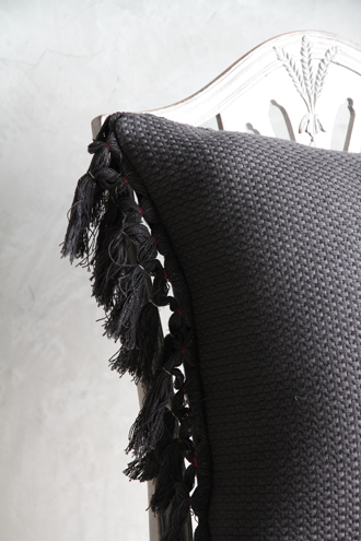 CONDOR織クッションカバーオールサイドレースフリンジ50x50cm