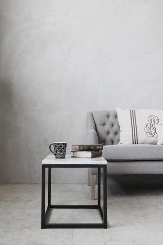 sofa domeアイアンサイドテーブルトップホワイトマーブルスクエア