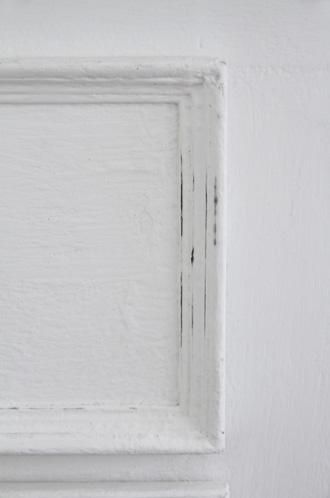 BLANC D'IVOIREサイドボードJOEホワイトTOPラフグレーfacon chene 奥行き60cm