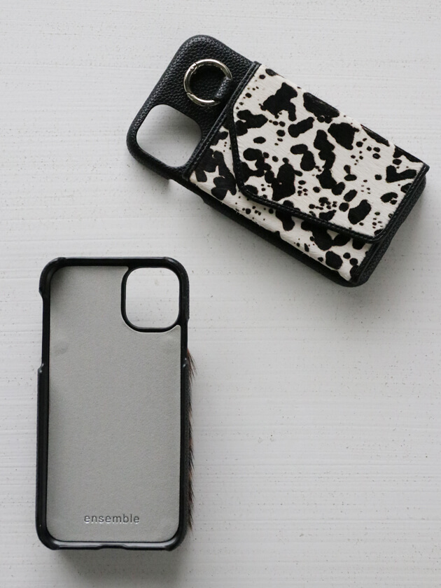iPhone11ケースensemble PORTEハラコ