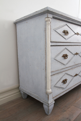 《30%OFF》Gustavian Antique ブルーチェスト