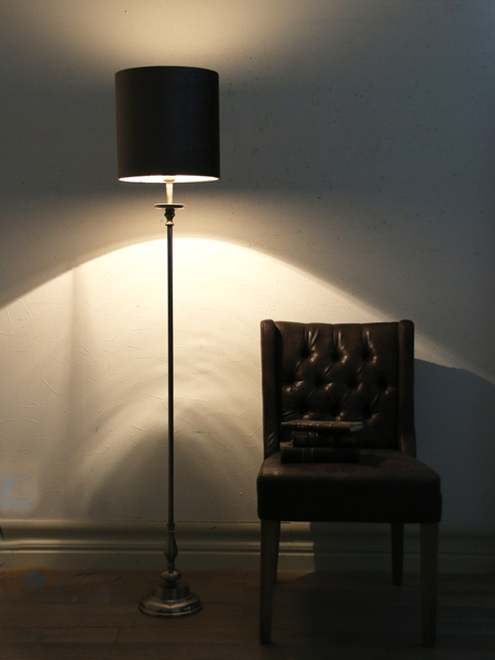 Light&Living フロアスタンドランプARUNAシルバー(シェード別売り)