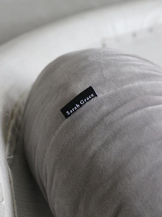 Sarah Graceラウンドクッション35cmライトグレー(中綿付き)