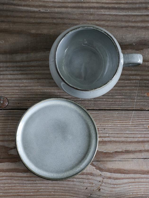 Lene Bjerreスープカップ&ソーサーAmeraグレー