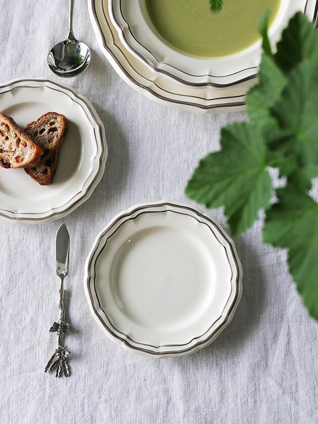 Gienパン皿Filet TAUPE
