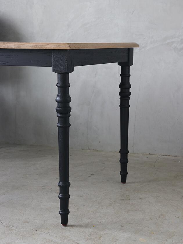 SGDダイニングテーブルアン160cmブラックTOPナチュラルCn