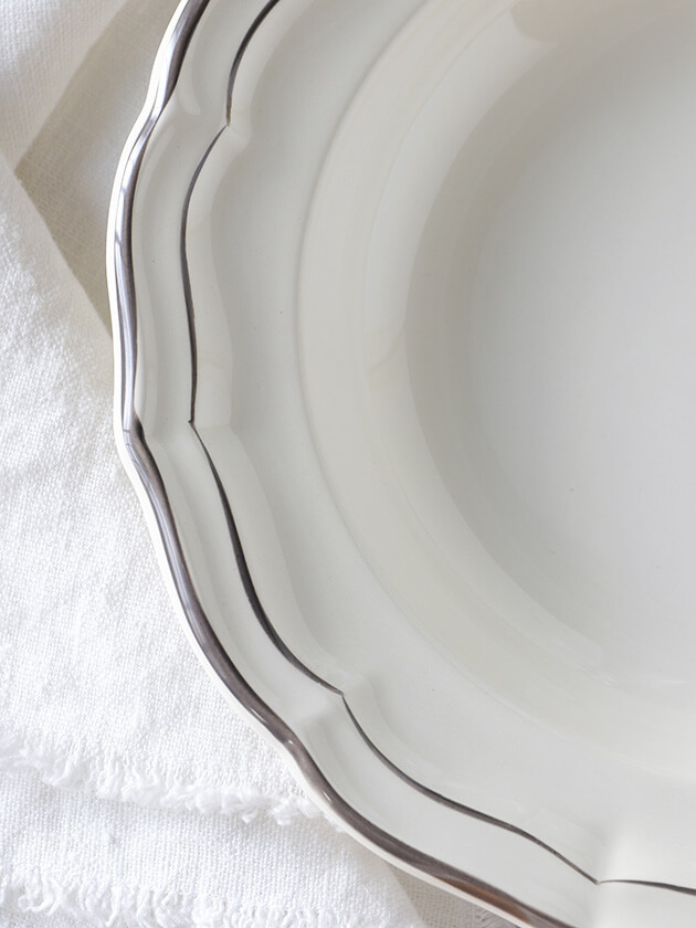 Gienスープ・パスタプレートFilet TAUPE