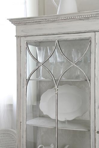 アンティークガラスキャビネット