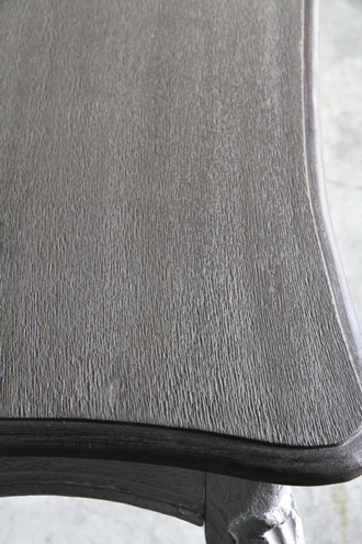 BLANC D'IVOIREダイニングテーブルJOANNA150cmアンティークグレーTOPブラウングレーfacon chene