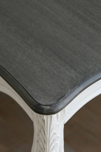 BLANC D'IVOIREダイニングテーブルJOANNA150cmアンティークホワイトTOPブラウングレーfacon chene