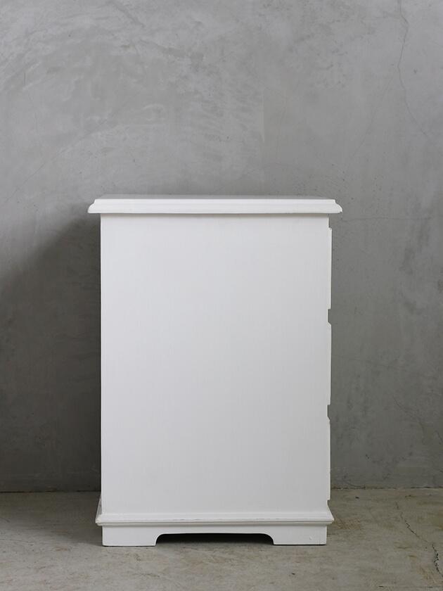 BLANC D'IVOIREサイドテーブルNAOMIホワイト