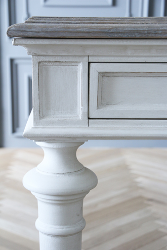 ClassicダイニングテーブルTiffany180cmホワイトTopラフナチュラル