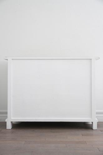 ClassicチェストMarcoブラッシュホワイトTOPナチュラル(奥行55cm)