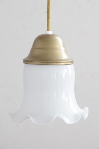 オパールガラスペンダントランプチューリップゴールド