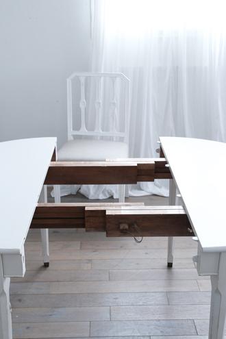 ダイニングテーブル伸縮式ホワイト