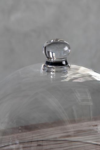 Baci MilanoラウンドドームCrystal Touchクリア25.4cm