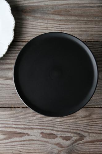 Baci MilanoケーキスタンドCrystal Touchブラック23.8cm