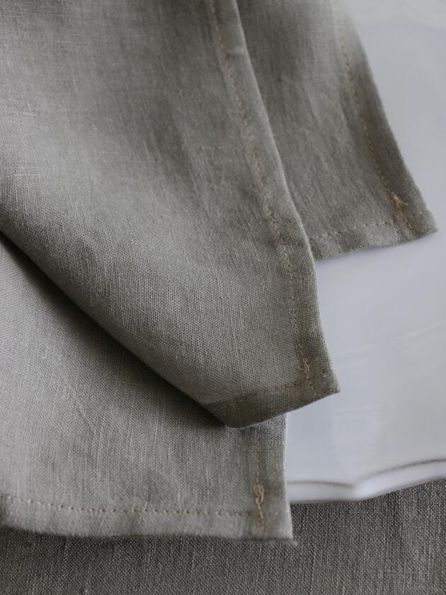 DecopurリネンナプキンBETON45x45cm