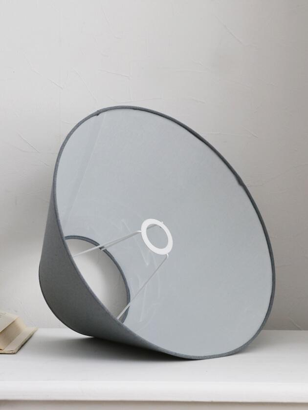 QUAINT&QUALITYシェードグレーリネン40cm