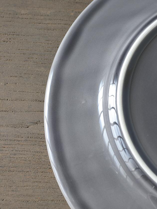 PotteryJoディナープレートDAISYグレー29cm