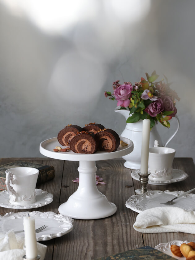 Cozy LivingケーキスタンドME ホワイト19cm