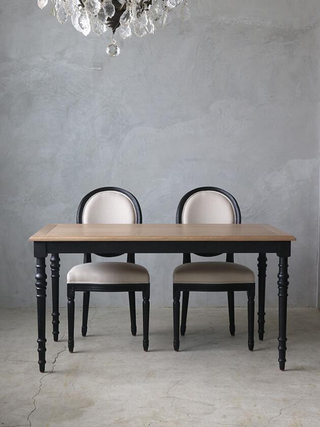 SGDダイニングテーブルアン145cmブラックTopナチュラルCn
