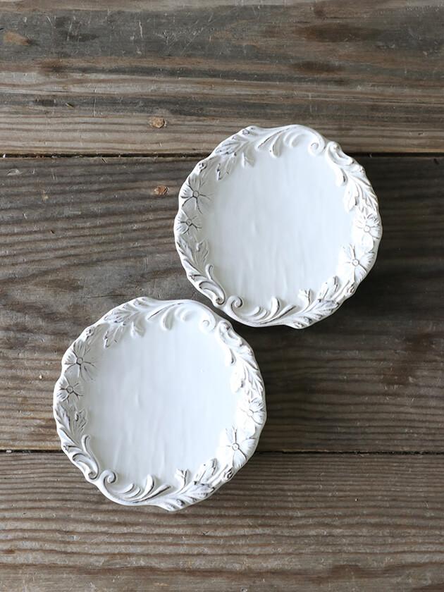 ELIOS MYFLOWERパン皿15cmホワイト