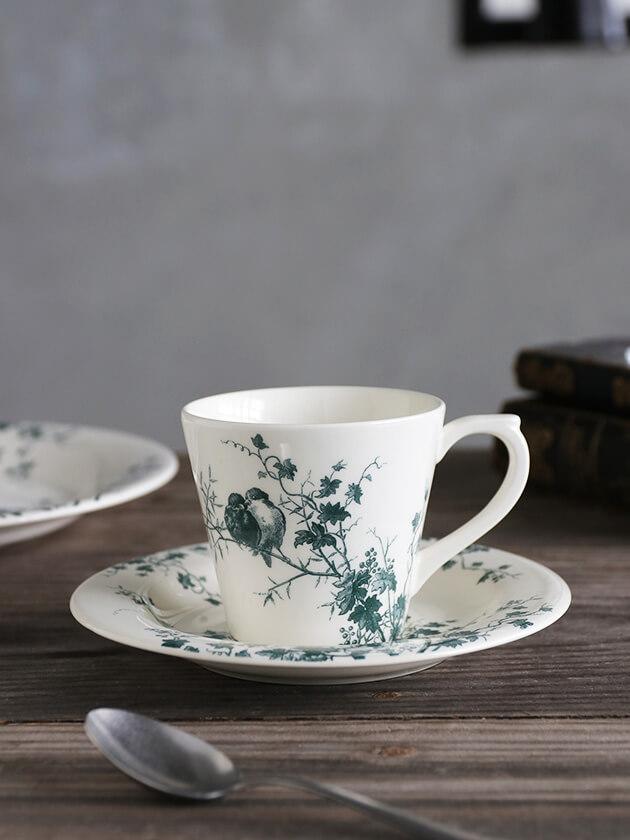 Gienカップ&ソーサーLes Oiseaux
